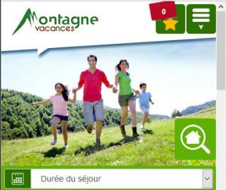 Site mobile montagne vacances