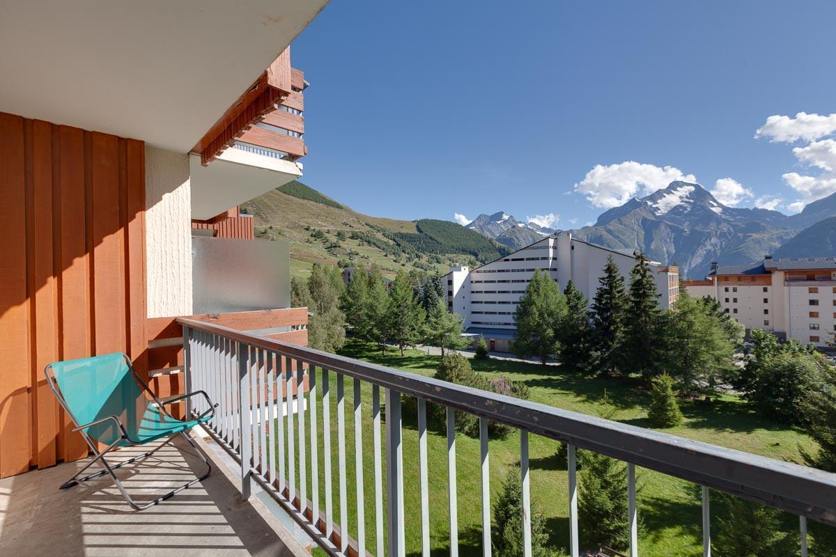 Location au ski Studio coin nuit 4 personnes (F6) - Residence Cote Brune 4 - Les 2 Alpes - Extérieur été