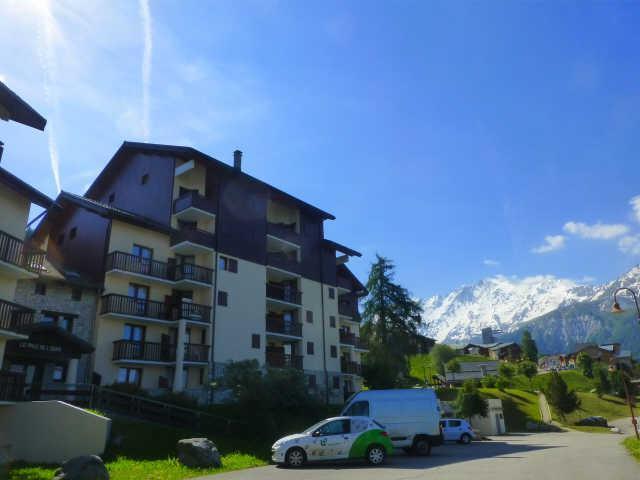Location au ski Appartement 2 pièces 4 personnes (98) - Residence Praz De L'ours B - Peisey-Vallandry - Extérieur été