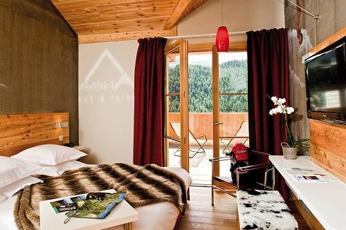 Holiday in mountain resort Anova Hôtel & Spa - Montgenèvre - Bedroom