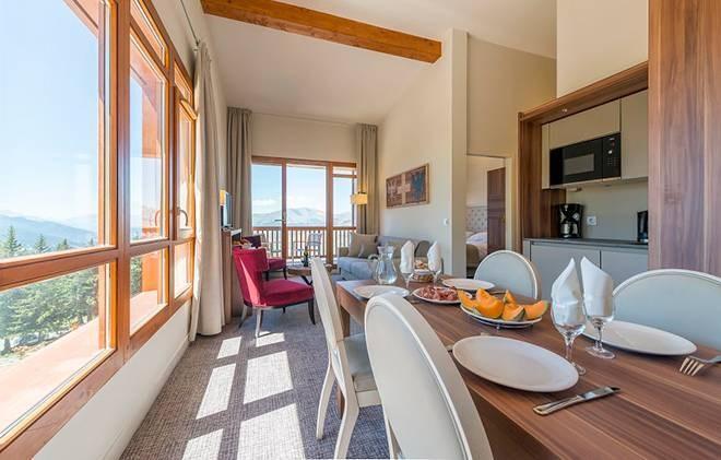 Vacances en montagne Appart'Hôtel Eden - Les Arcs - Coin repas