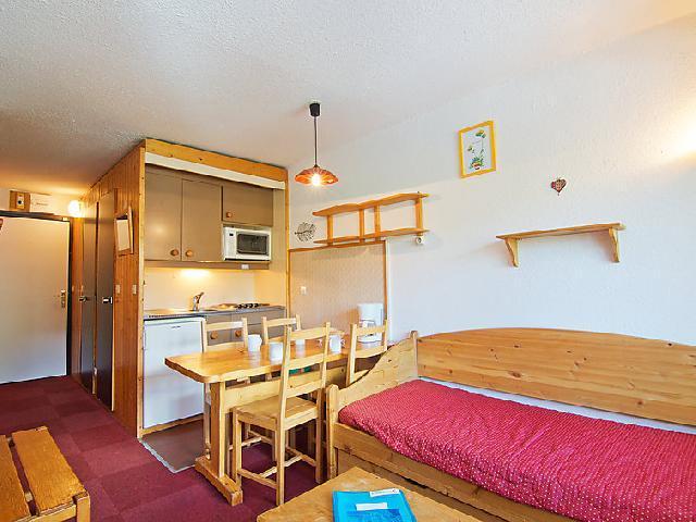 Vakantie in de bergen Appartement 2 kabine kamers 4 personen (16) - Arcelle - Val Thorens - Woonkamer