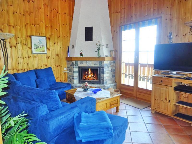 Vacances en montagne Chalet Albert - Thyon - Cheminée