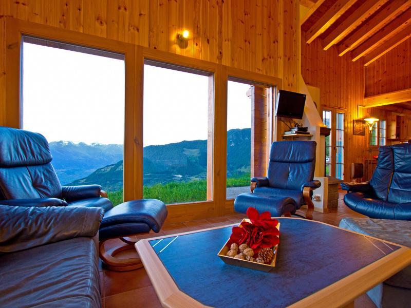 Vacances en montagne Chalet Alpina P12 - La Tzoumaz - Coin séjour