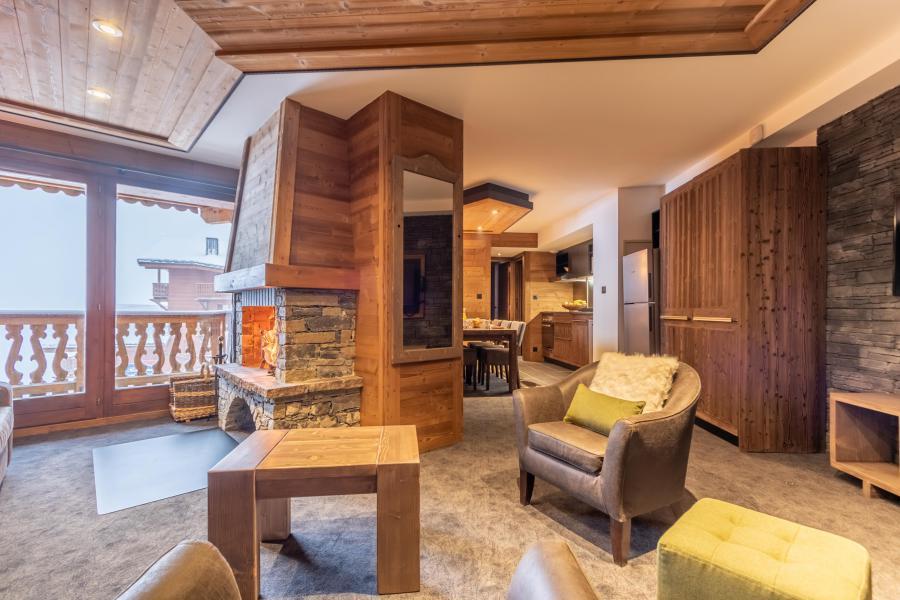 Urlaub in den Bergen 4-Zimmer-Appartment für 6 Personen - Chalet Altitude - Val Thorens - Kamin