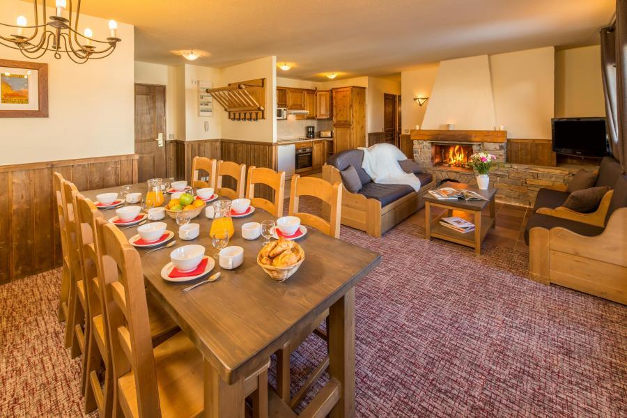 Urlaub in den Bergen 5 Zimmer Appartement für 8-10 Personen - Chalet Altitude - Les Arcs - Esszimmer