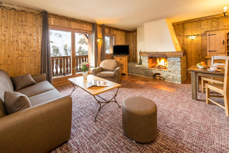 Vakantie in de bergen Appartement 3 kamers 4-6 personen - Chalet Altitude - Les Arcs - Open haard