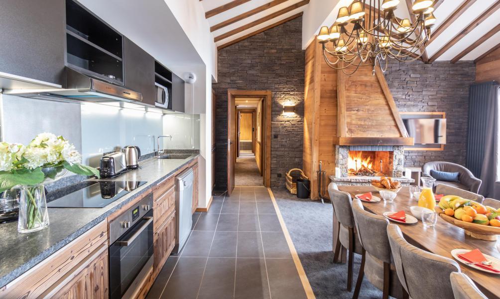 Vacances en montagne Appartement 5 pièces 8 personnes - Chalet Altitude - Val Thorens - Salle à manger