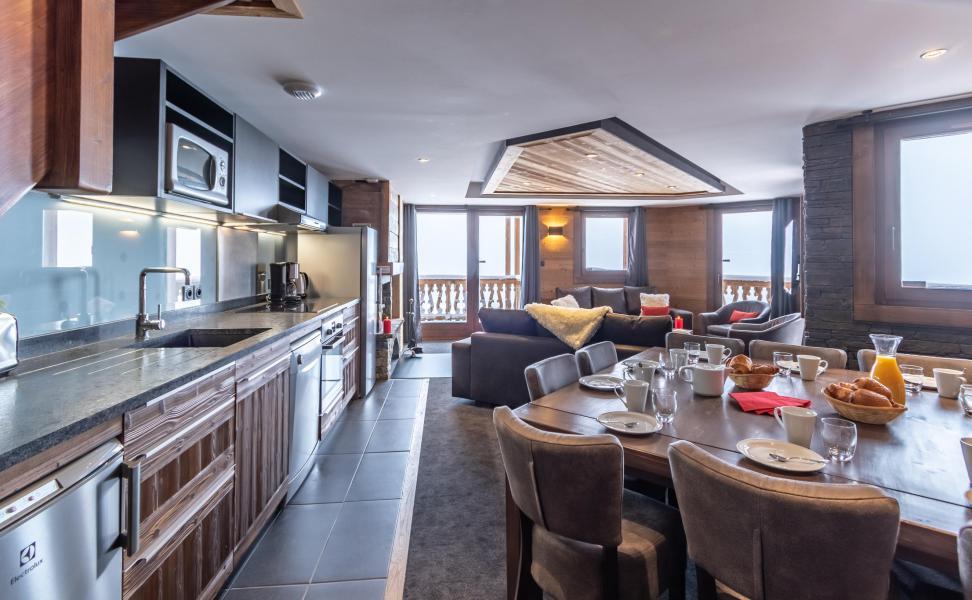 Vacances en montagne Appartement duplex 6 pièces 10 personnes - Chalet Altitude - Val Thorens - Cuisine