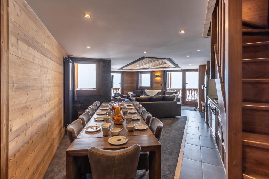Vacances en montagne Appartement duplex 7 pièces 12 personnes - Chalet Altitude - Val Thorens - Table