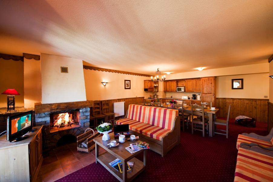 Urlaub in den Bergen Chalet Altitude - Les Arcs - Wohnzimmer