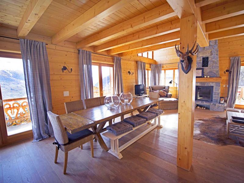 Vacances en montagne Chalet Aurore - Thyon - Salle à manger