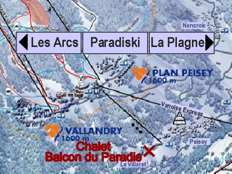 Vacances en montagne Chalet Balcon du Paradis - Peisey-Vallandry - Plan