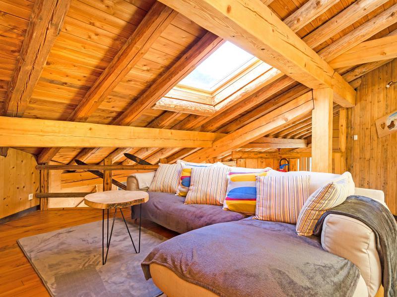 Vacances en montagne Chalet Balcon du Paradis - Peisey-Vallandry - Coin séjour