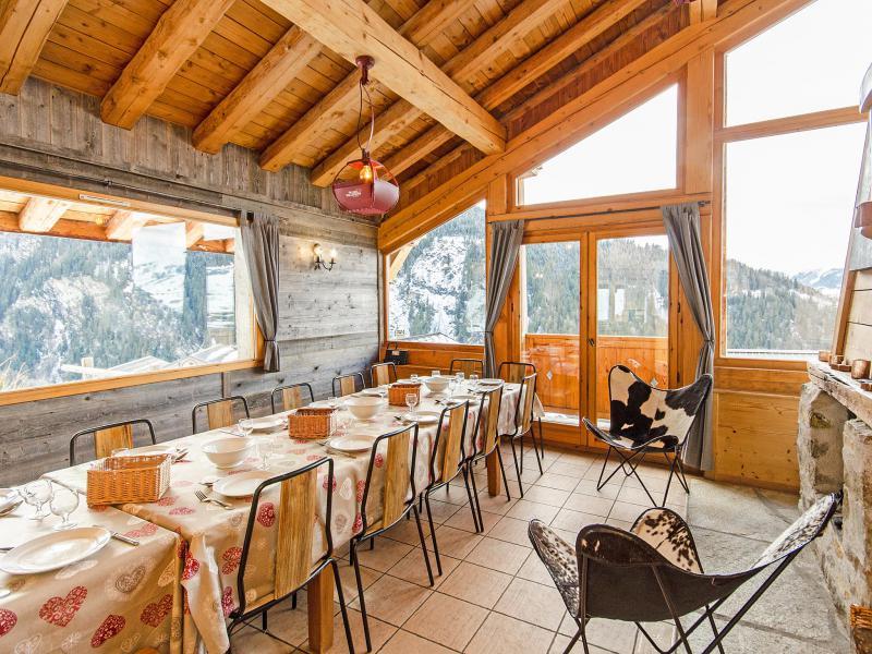 Vacanze in montagna Chalet Balcon du Paradis - Peisey-Vallandry - Sala da pranzo