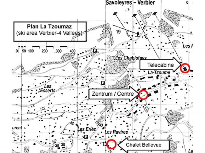 Vacanze in montagna Chalet Bellevue - La Tzoumaz - Mappa