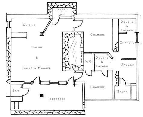 Wakacje w górach Apartament 4 pokojowy 6 osób (2) - Chalet Bon Vieux Temps - Le Grand Bornand - Plan
