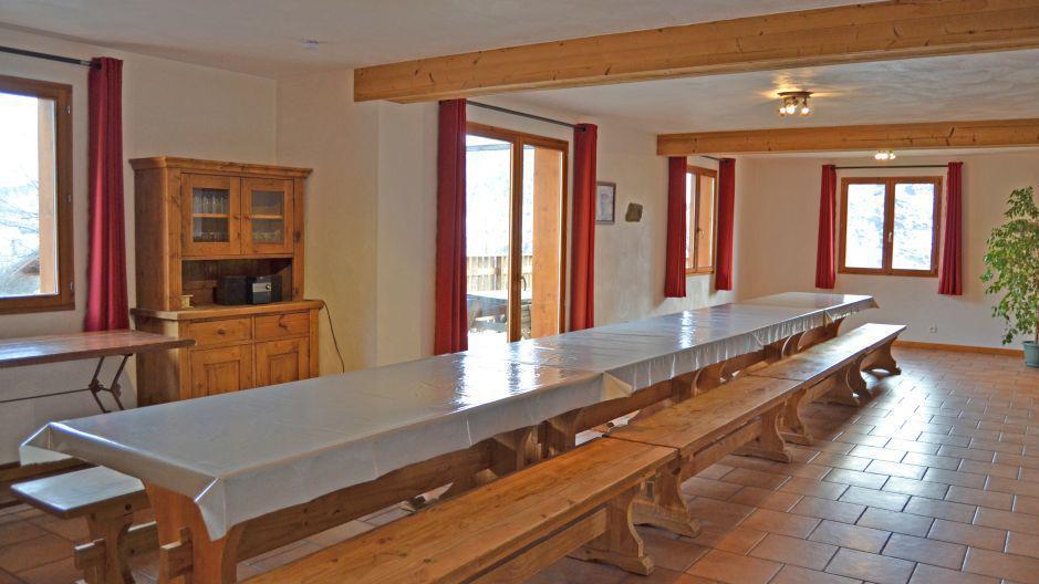 Vakantie in de bergen Chalet Brequin - Les Menuires - Eetkamer