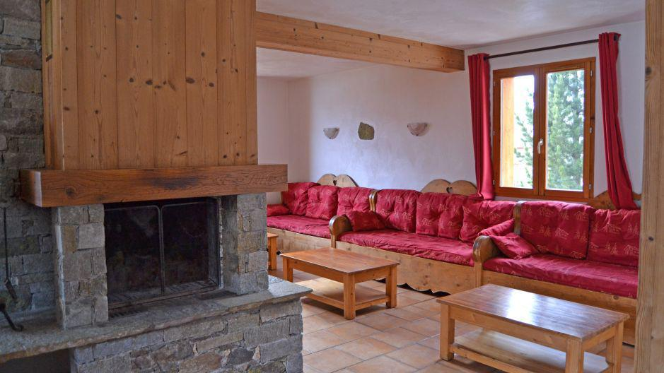 Vakantie in de bergen Chalet Brequin - Les Menuires - Open haard