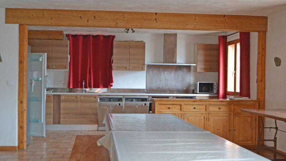 Vakantie in de bergen Chalet Brequin - Les Menuires - Open keuken
