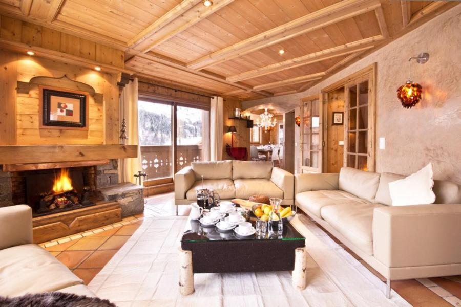 Holiday in mountain resort Chalet Brioche - Méribel - Living room