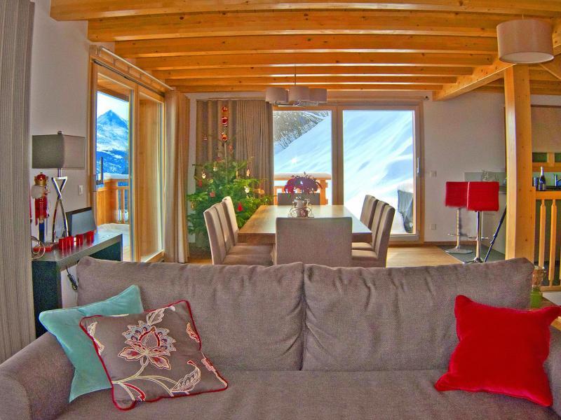 Urlaub in den Bergen Chalet Brock - Thyon - Sofa