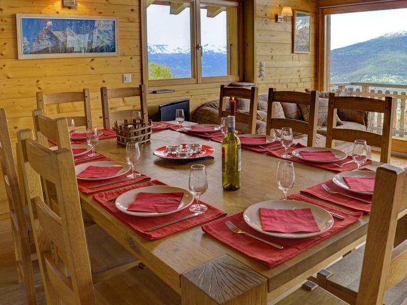 Vacances en montagne Chalet Bryher - Thyon - Salle à manger