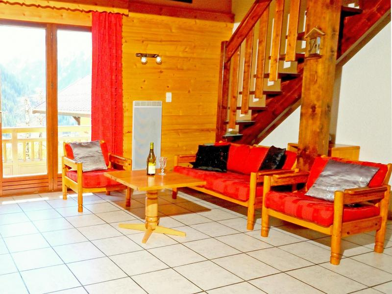 Holiday in mountain resort Chalet Carella - Champagny-en-Vanoise - Living room