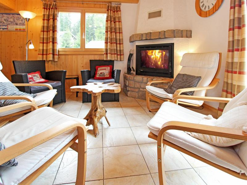 Vacances en montagne Chalet Charmille - La Tzoumaz - Coin séjour