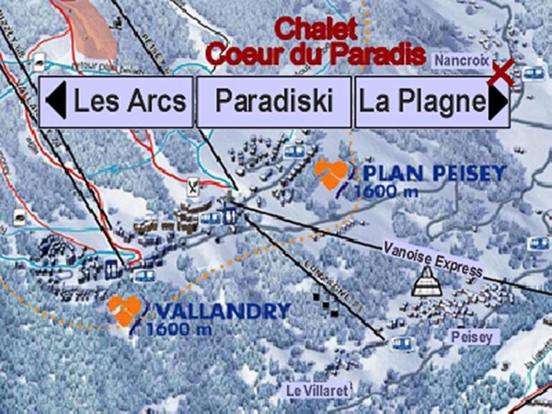 Vacances en montagne Chalet Coeur du Paradis - Peisey-Vallandry - Plan