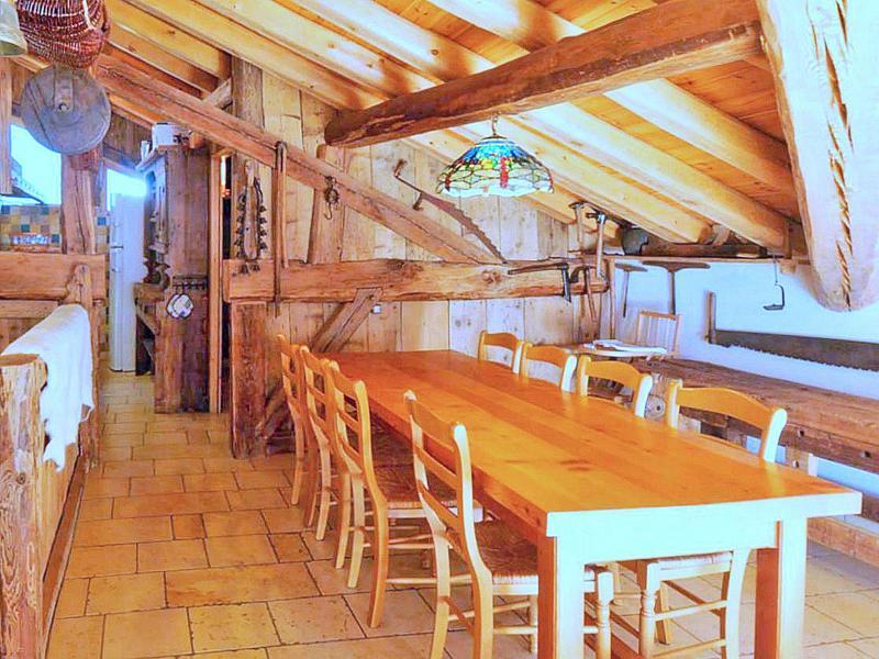 Vacances en montagne Chalet Coeur du Paradis - Peisey-Vallandry - Salle à manger