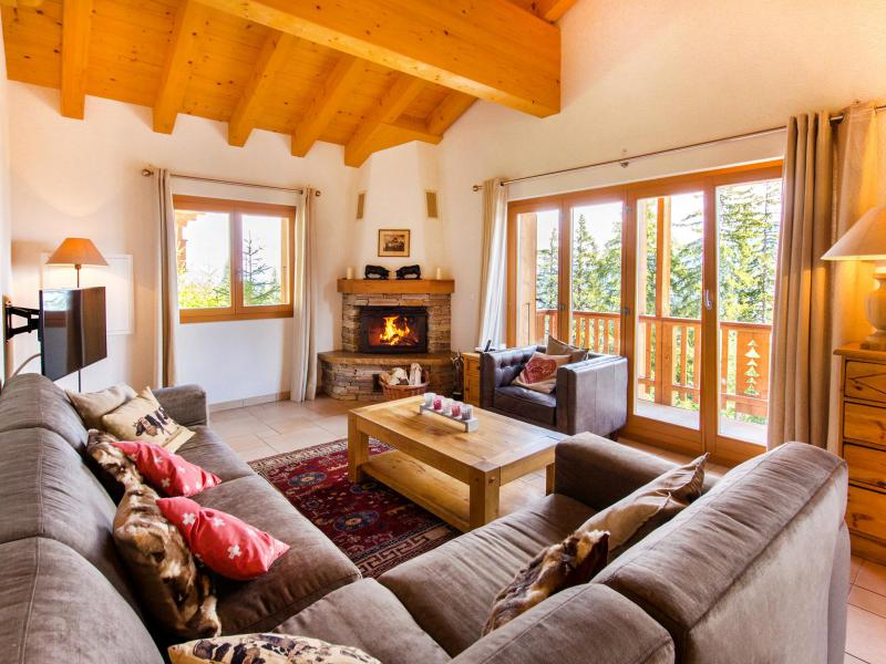 Holiday in mountain resort Chalet Collons 1850 - Thyon - Living room