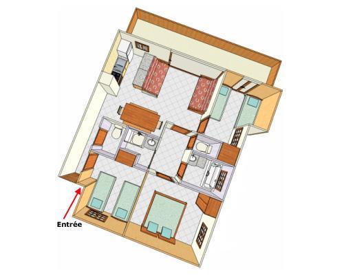 Vacances en montagne Appartement 4 pièces 8 personnes - Chalet Cristal - Champagny-en-Vanoise - Plan