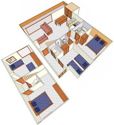 Vacances en montagne Appartement duplex 5 pièces 10 personnes - Chalet Cristal - Champagny-en-Vanoise - Plan