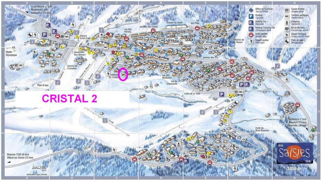 Vacaciones en montaña Chalet Cristal 2 - Les Saisies - Plano