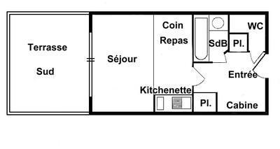 Vacaciones en montaña Apartamento cabina para 5 personas (207) - Chalet Cristal 2 - Les Saisies - Plano