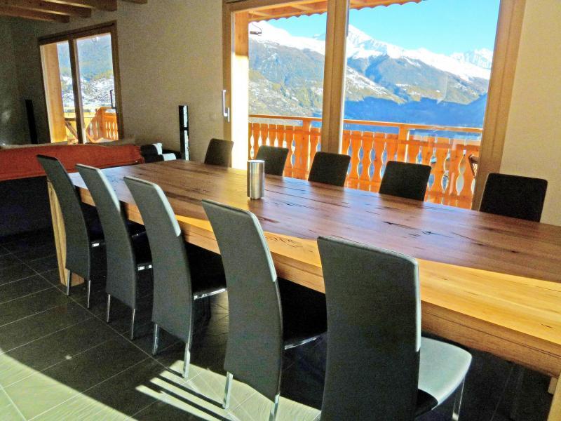 Vacances en montagne Chalet Croix Blanche - Thyon - Table