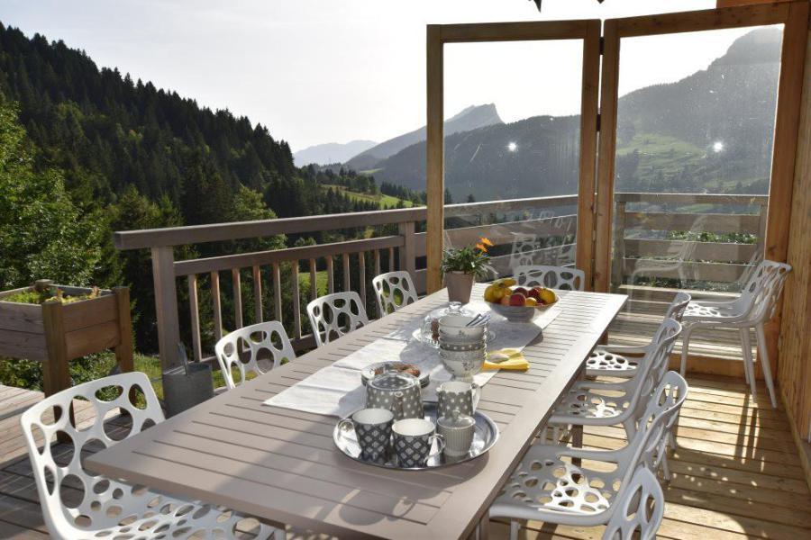 Vacaciones en montaña Chalet triplex 6 piezas para 11 personas - Chalet d'Anne - Le Grand Bornand - Terraza