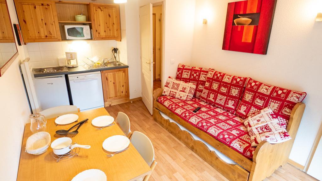 Vacances en montagne Appartement 2 pièces 4 personnes (42) - Chalet de Florence - Valfréjus - Canapé-gigogne