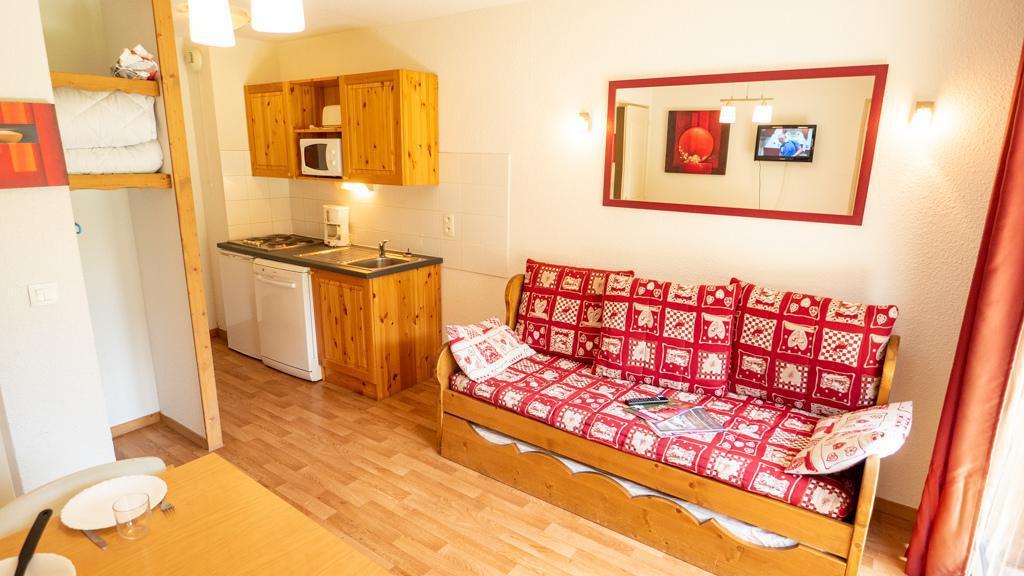 Vacances en montagne Studio cabine 4 personnes (14) - Chalet de Florence - Valfréjus - Canapé-gigogne