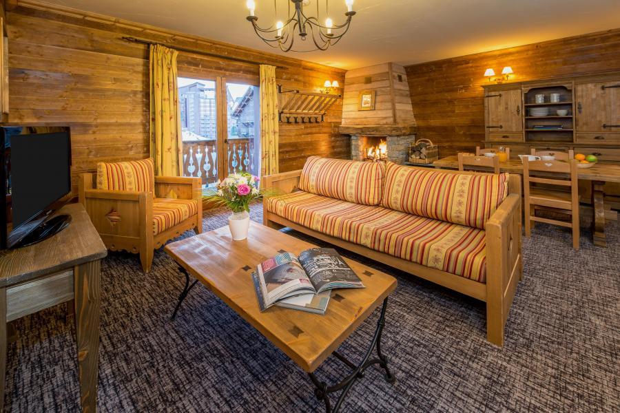 Urlaub in den Bergen 3 Zimmer Appartement für 4-6 Personen - Chalet de l'Ours - Les Arcs - Wohnzimmer