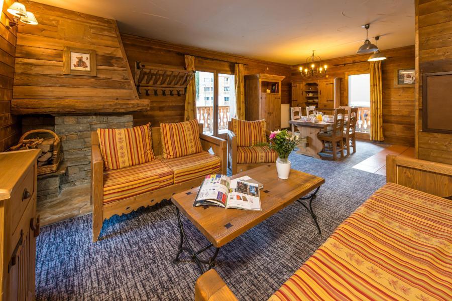Urlaub in den Bergen 4 Zimmer Appartement für 6-8 Personen - Chalet de l'Ours - Les Arcs - Wohnzimmer