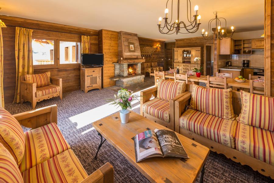 Urlaub in den Bergen 6 Zimmer Appartement für 10-12 Personen - Chalet de l'Ours - Les Arcs - Wohnzimmer