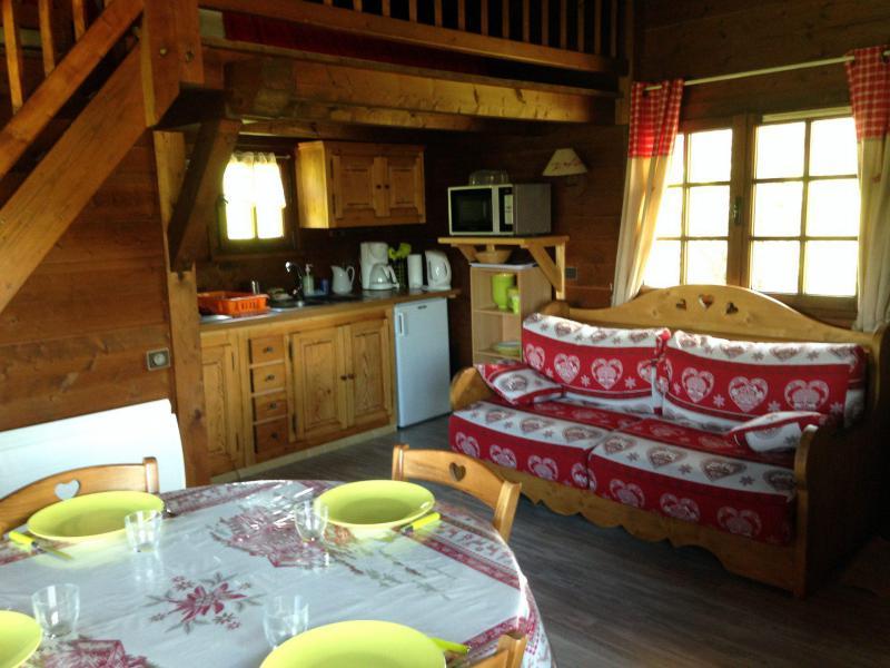 Vakantie in de bergen Chalet 1 kamers mezzanine 4 personen - Chalet de la Princesse - Combloux
