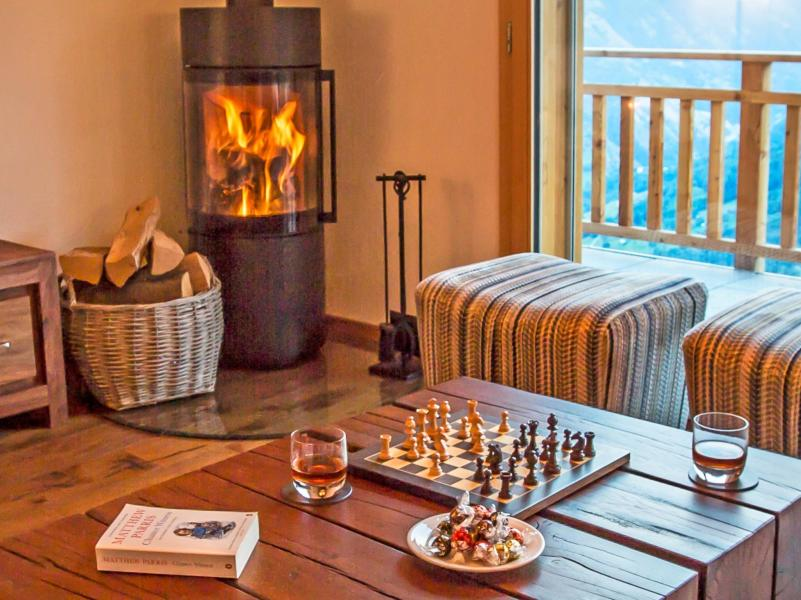 Holiday in mountain resort Chalet des Etoiles - Thyon - Living room
