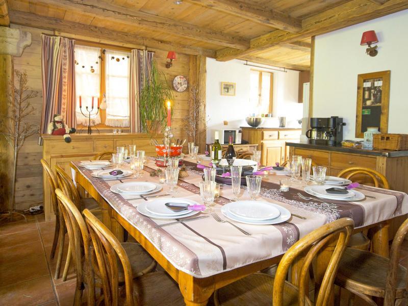 Vacances en montagne Chalet Deux Têtes I - Les Arcs - Salle à manger