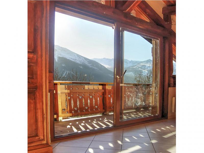 Vacances en montagne Chalet Diamant - Champagny-en-Vanoise - Porte-fenêtre donnant sur balcon