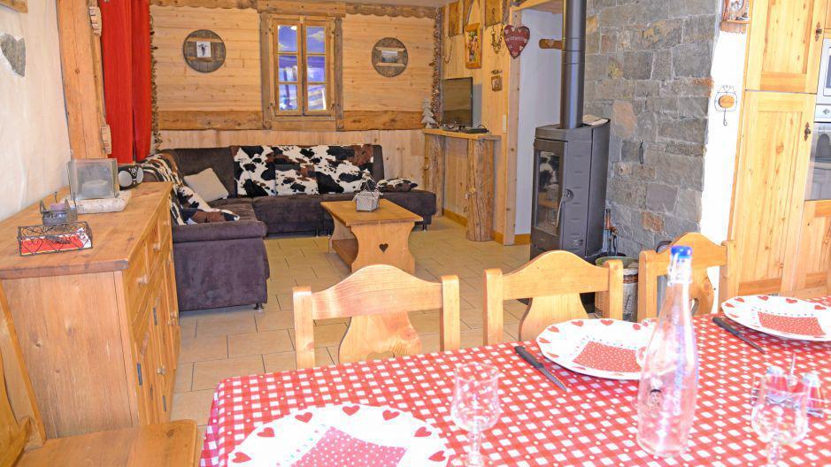 Vacanze in montagna Chalet du Berger - Les Menuires - Angolo soggiorno