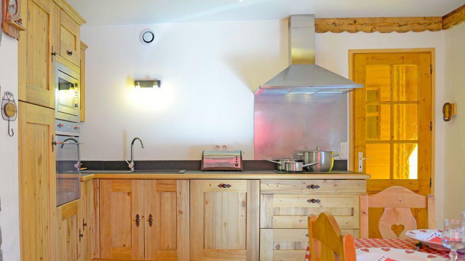 Vacanze in montagna Chalet du Berger - Les Menuires - Cucina aperta