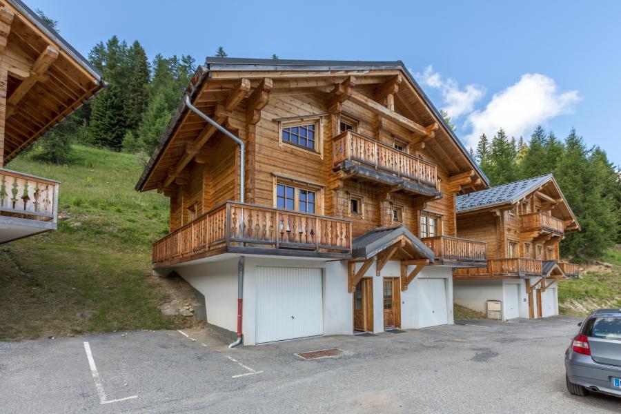 Location au ski Chalet 6 pièces 12 personnes (6AC) - Chalet du Hameau de Crête Côte - La Plagne - Extérieur été